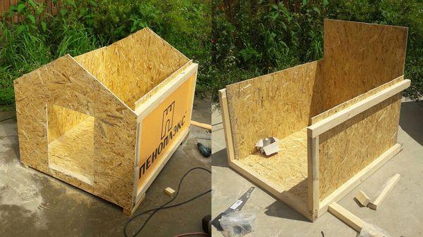 Изготовление домика на свежем воздухе