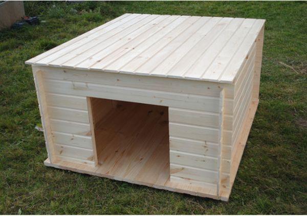 Домик для собаки довольно прост в изготовлении