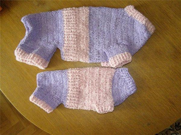 Теплый вязаный свитер для чихуахуа