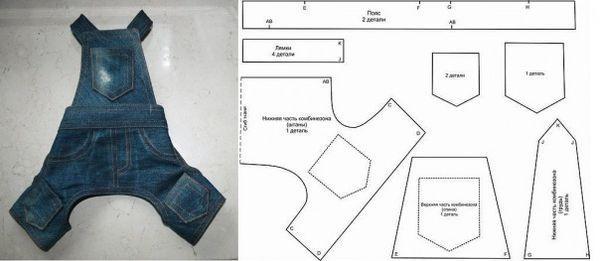 Выкройки для одежды мопса можно найти в интернете