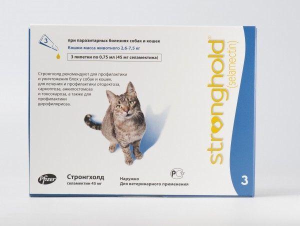 Капли для кошек «Стронгхолд»