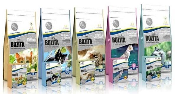 Основой корма Бозита является натуральное мясо и рыба