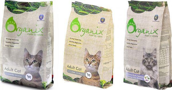 Корм для кошек Оrganix