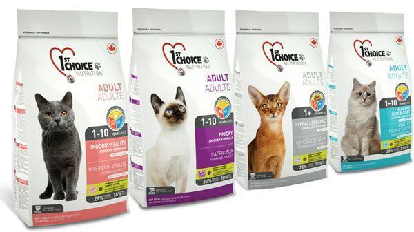 Корм для домашних кошек и котов 1st Choice