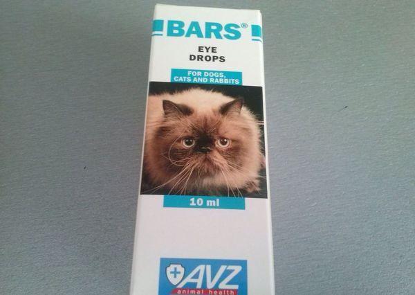 Капли глазные для кошек «Барс»
