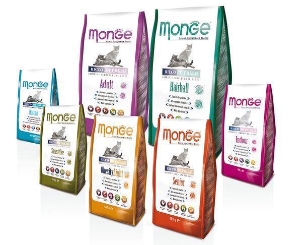 Итальянский корм для кошек марки Monge
